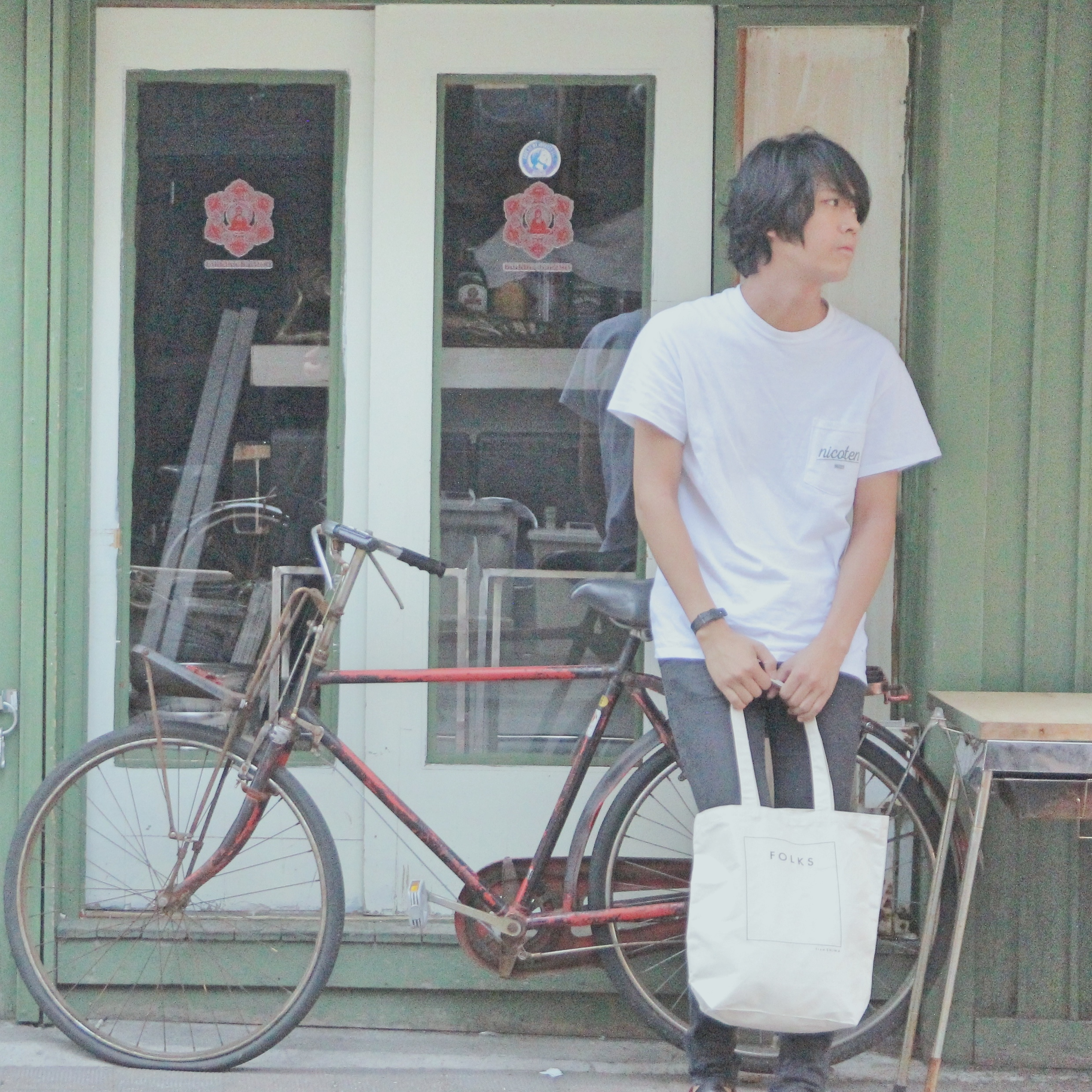 ・FOLKS NEW TOTE BAG(natural/navy) - 画像2