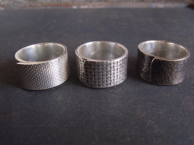 Pure Silver (純銀)リング/幅10mm *即納可