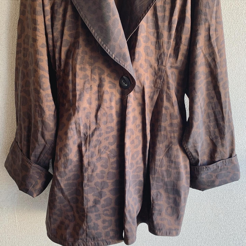 vintage leopard design coat