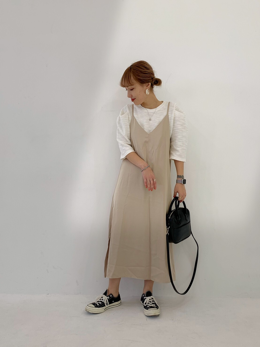 【asyu】satin date one-piece