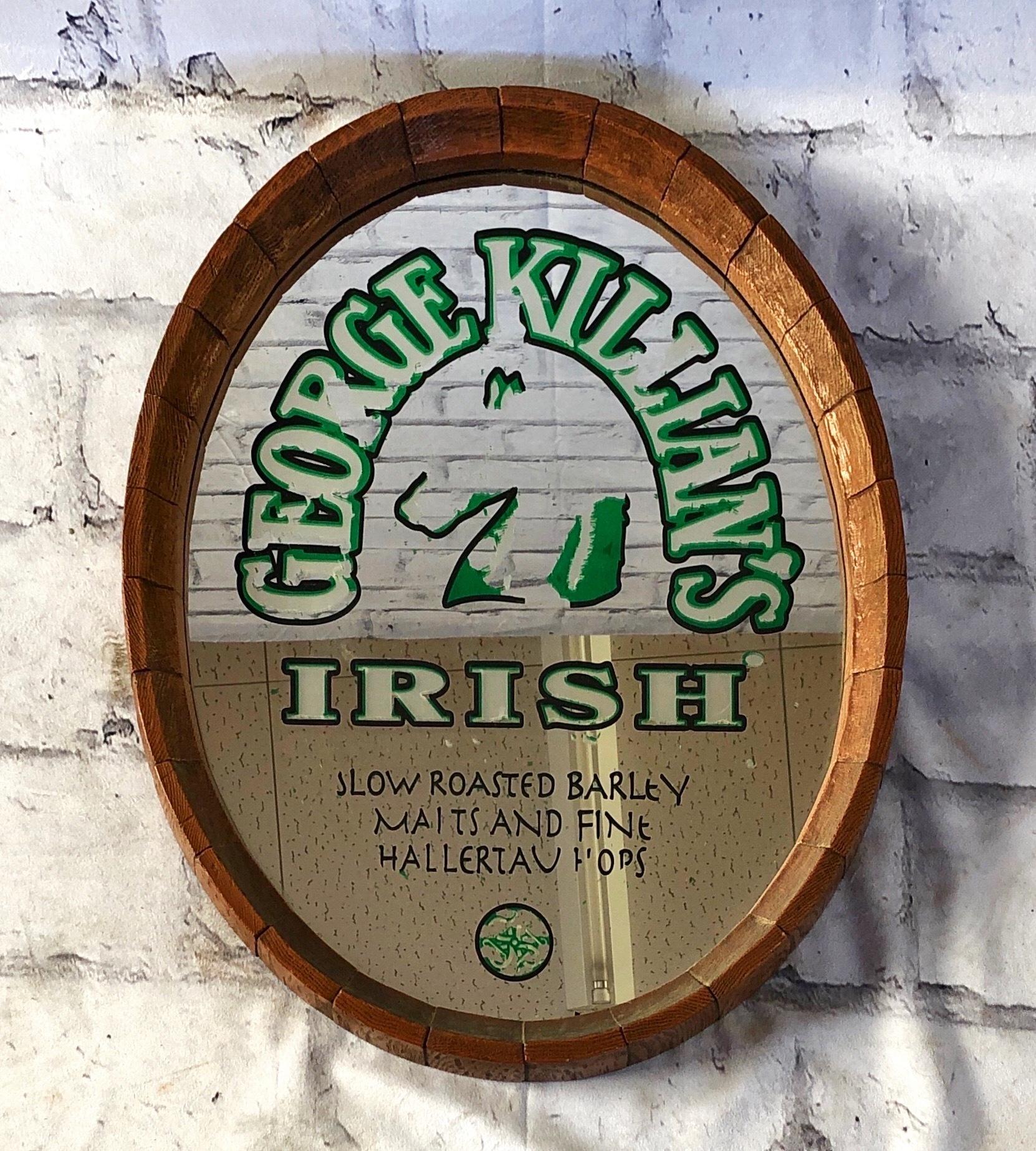 品番2048 パブミラー 『ジョージ キリアンズ アイリッシュ/george killian's IRISH 』 ヴィンテージ