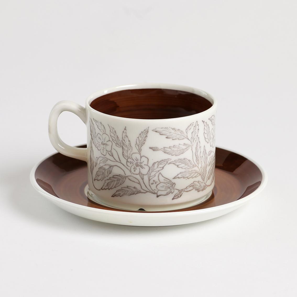 GEFLE ゲフレ Fontana フォンタナ コーヒーカップ&ソーサー - 4 北欧ヴィンテージ