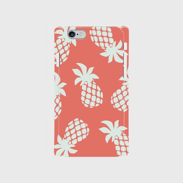 iPhone6/6sスマホケース ☆pineapple☆pink☆側表面印刷ツヤ有り(コート)