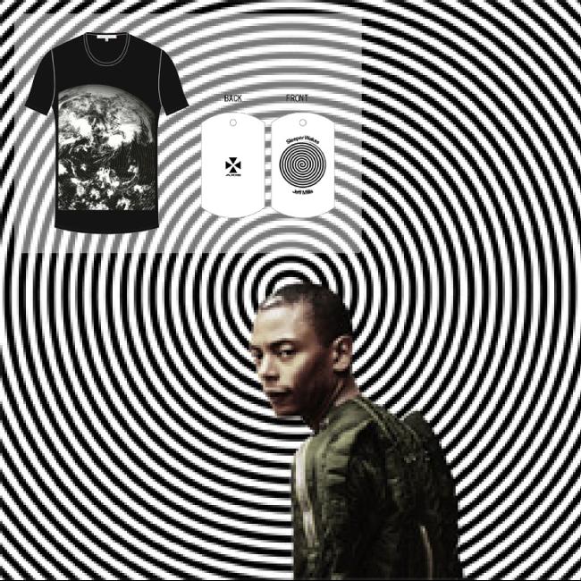 ジェフ・ミルズ - Sleeper Wakes Special T-shirt set(museum neu × Jeff Mills コラボT-shirt、オリジナルDog Tag付) - 画像1