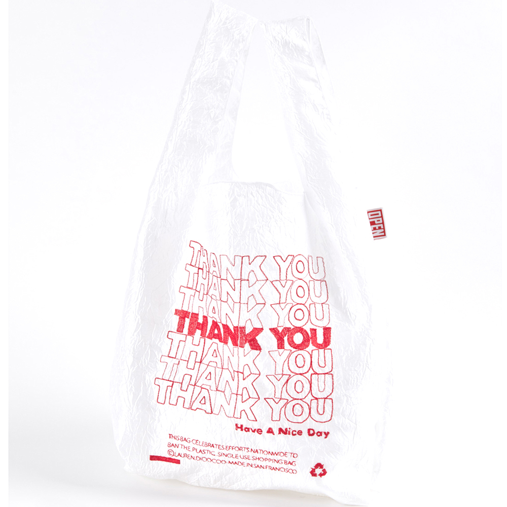 OPEN EDITION  THANK YOU RED TOTE