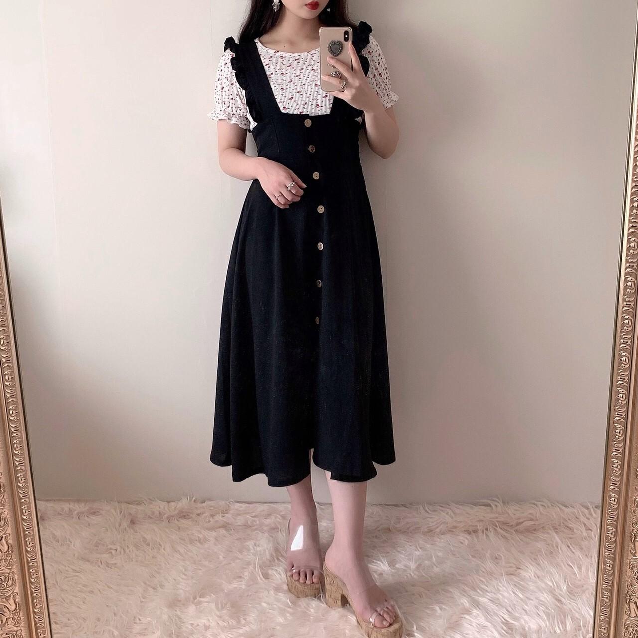 【meltie】vintage button frill skirt