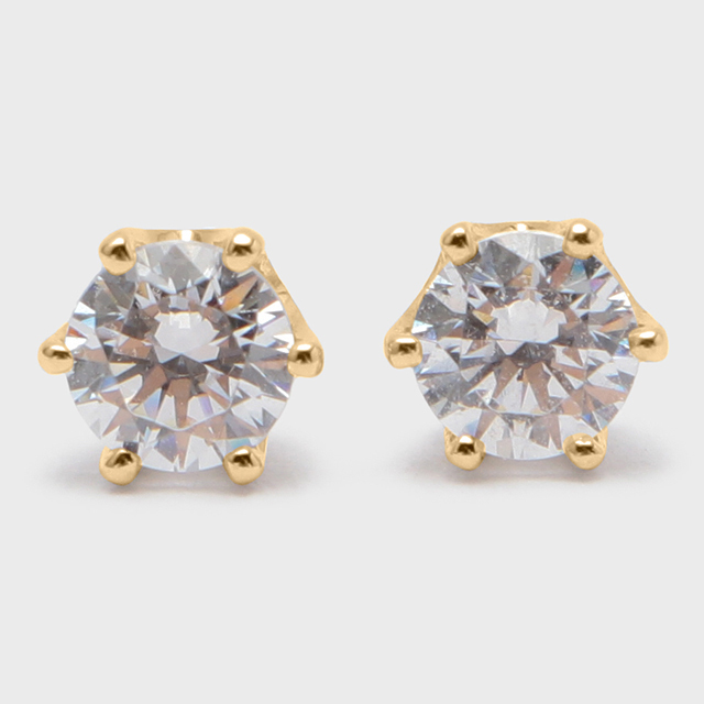 BIJOUPIKO Diamond Pierce  K18YG (ビジュピコ 6点留めダイヤモンドピアス 0.4ct K18イエローゴールド)