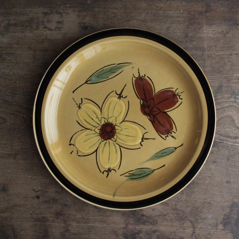 飴色 花柄 ストーンウェア