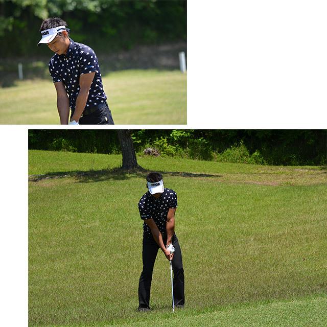 ゴルフプロ監修 星柄半袖シャツ【日本製】紺×紺