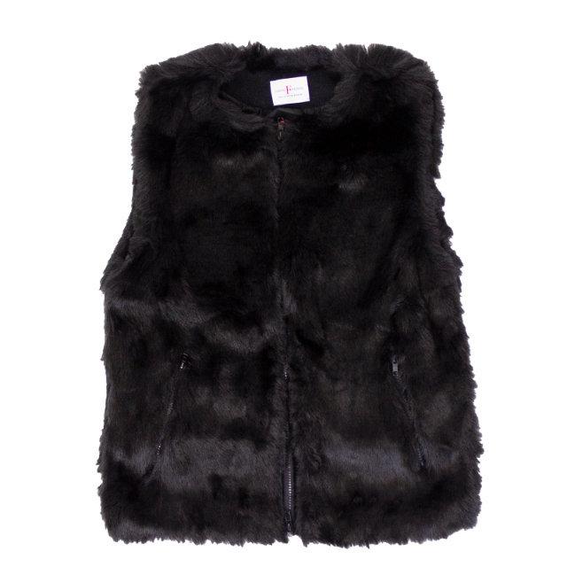 FARFIELD Fur Vest   フェイクファー ノーカラー ベスト 【FARFIELD ファーフィールド】