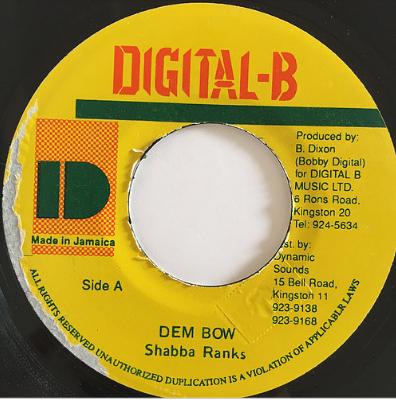 Shabba Ranks(シャバランクス) - Dem Bow【7'】