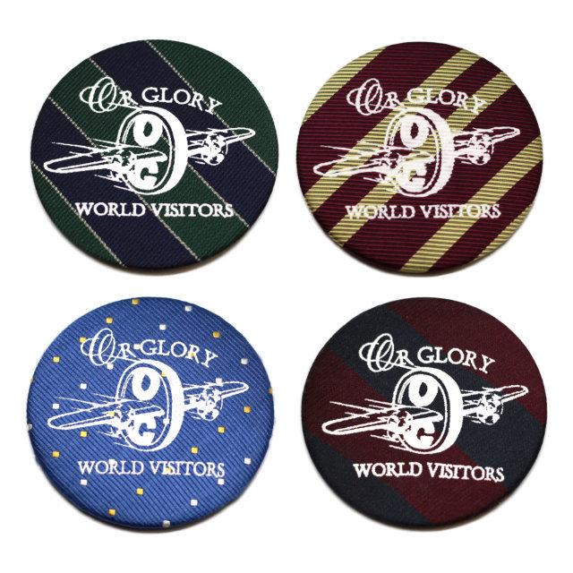 "Antique Large Badge ""WORLD VISITORS"" 【OR GLORY】"