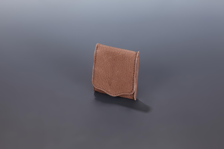 【国産イノシシ革】Designers Jewelry buff コラボコインケース(Darkbrown)【NOTO Leather使用】