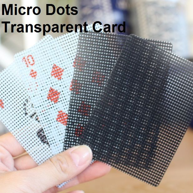 Micro Dots Transparent Card