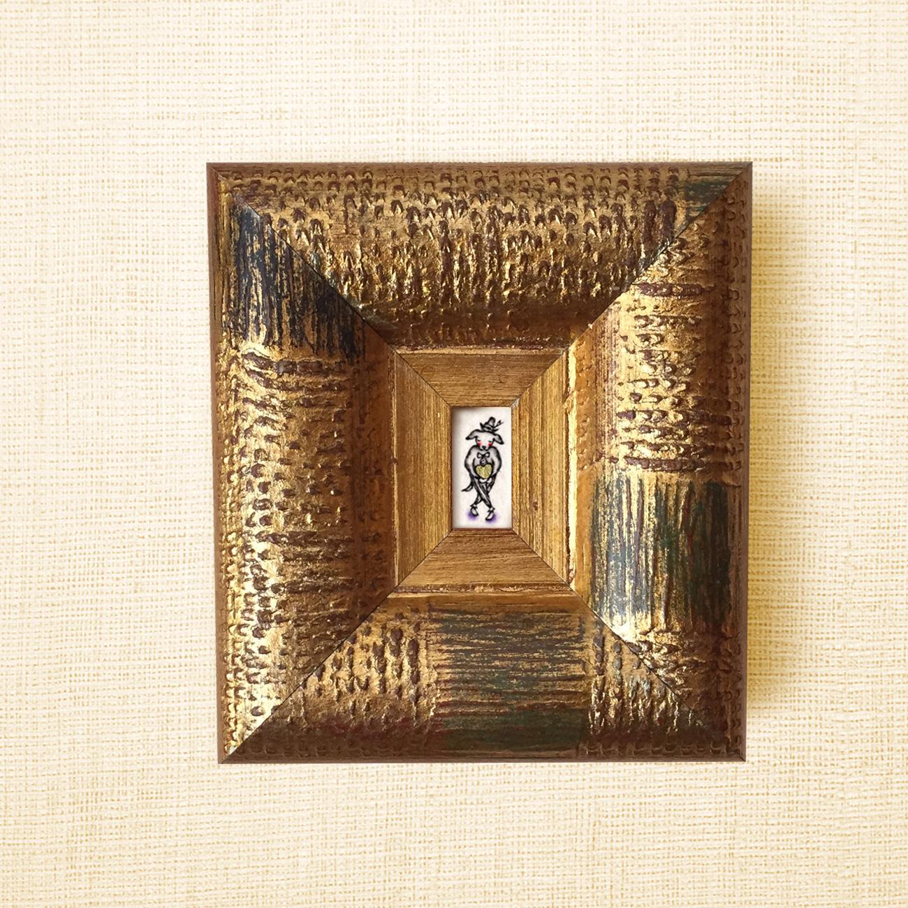 ミニ額縁 原画【 愛の配達人 】dog ver.  / small size frame