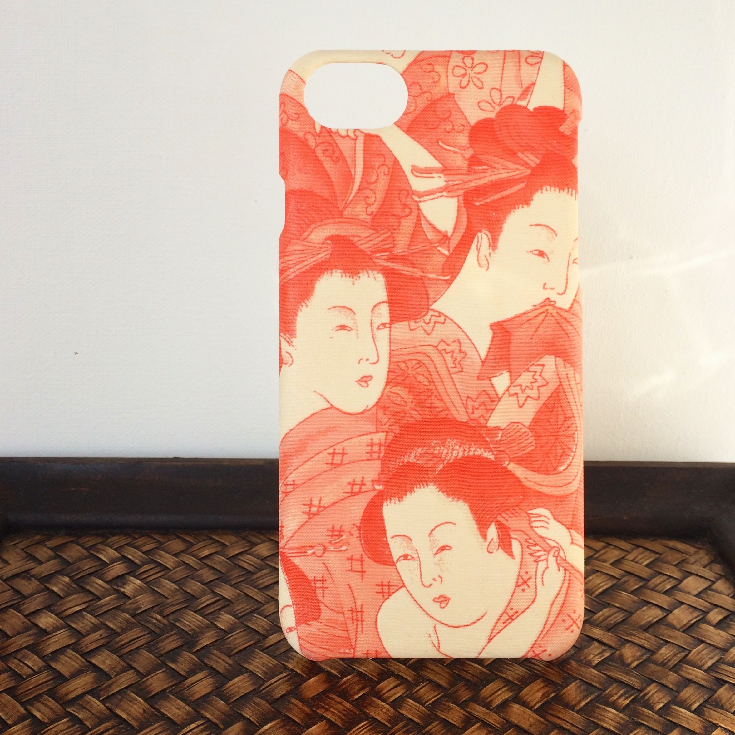 Kimono 希少 アンティーク着物iphoneケース 江戸美人画 Beside