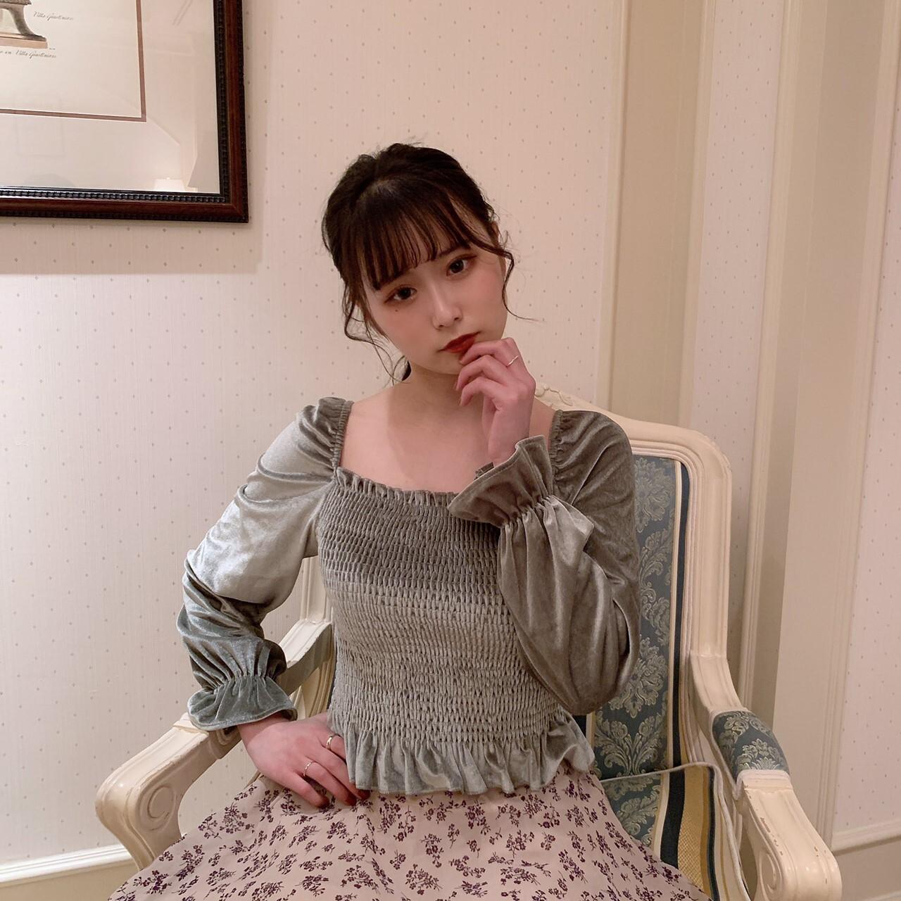 【meltie】matcha velvet tops