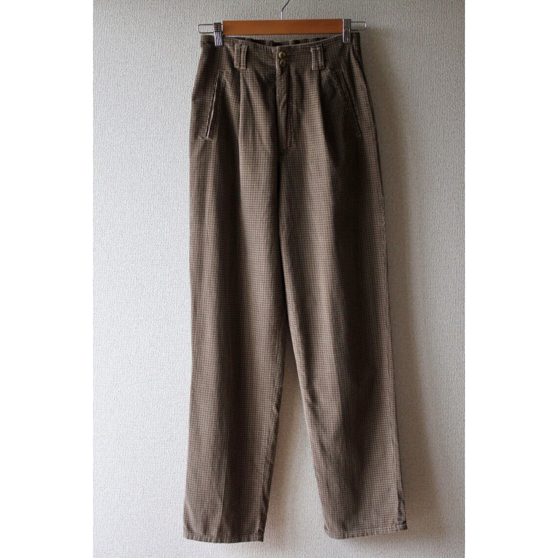 Vintage check corduroy pants