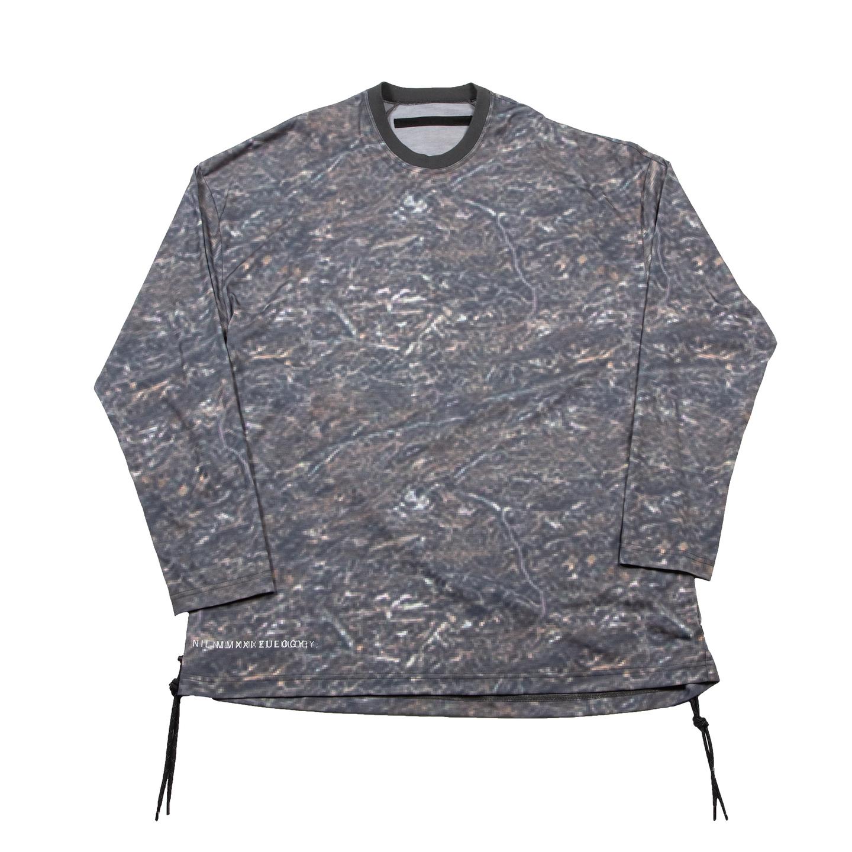 [ 2021 春夏 予約商品 ] 740CUM3-P-KHAKI / プリント ロングスリーブ コード Tシャツ / 12月入荷予定