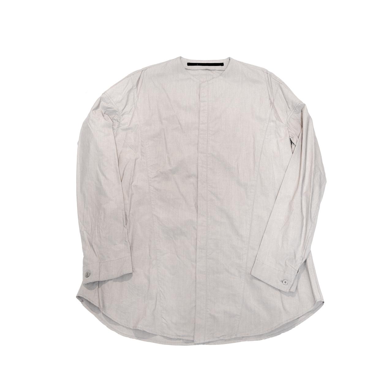 607SHM1-GRAY / シームドカラーレスシャツ
