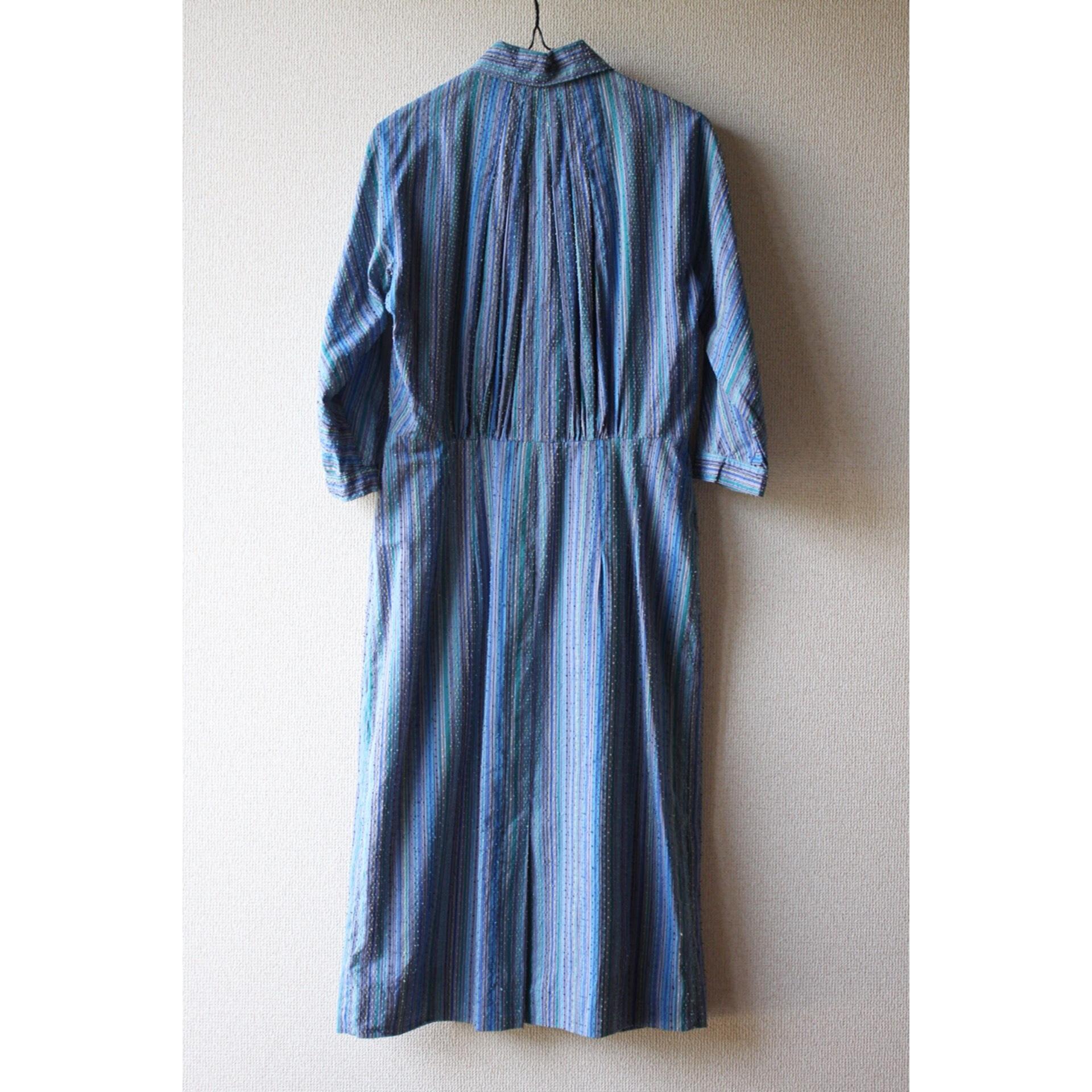 Vintage silk stripe dress