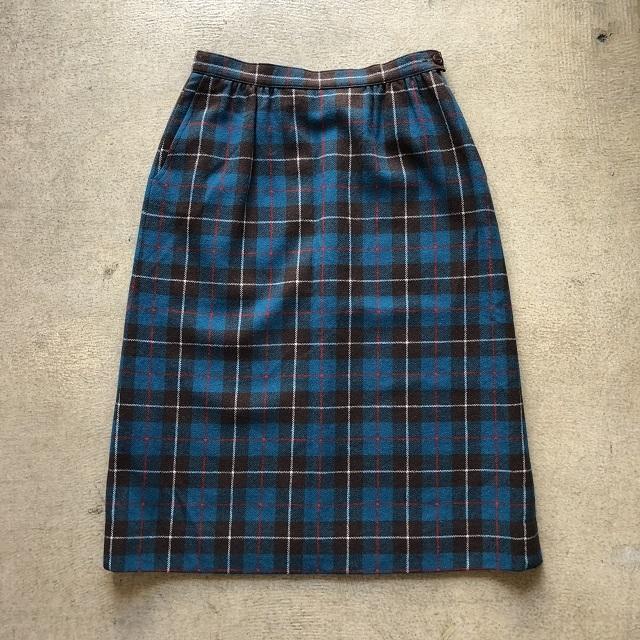 Pendleton Check Skirt #TP-202