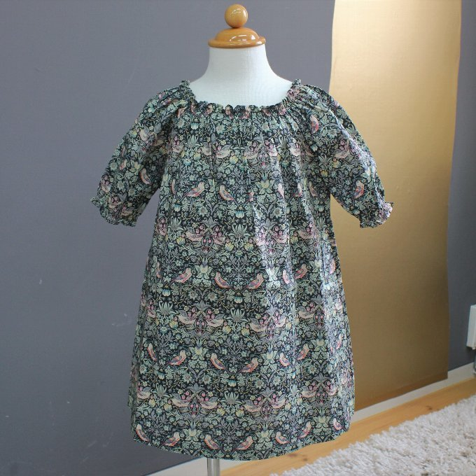 BABE&TESS リバティプリント Dress ( 3y,4y )