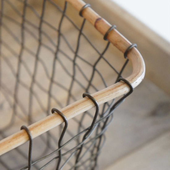 アイアンレクタングルバスケットL - 画像4