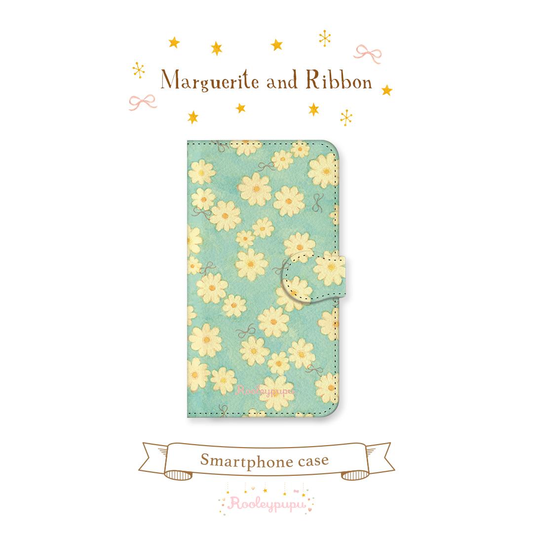マーガレットとりぼん〈手帳型スマホケース for iPhone & Android〉