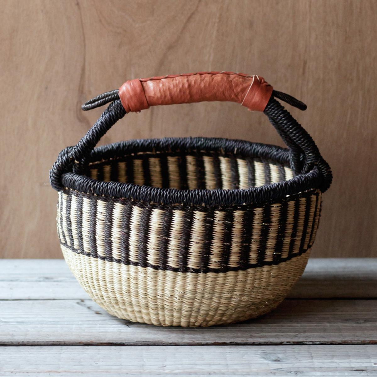 ガーナの手編み ボルガバスケット / 小 G