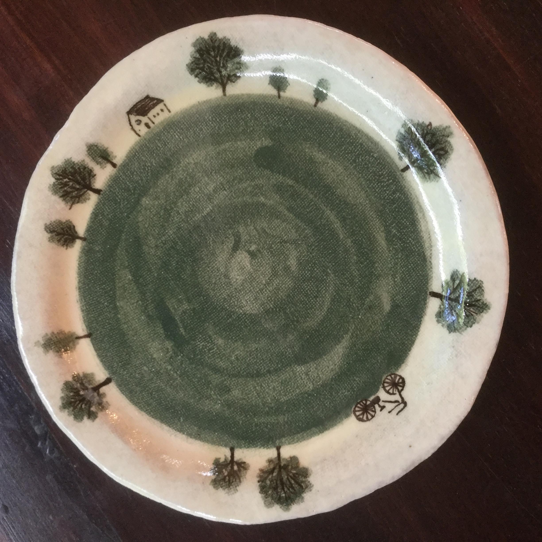 西美紀 / 草原と自転車シリーズ ケーキ皿