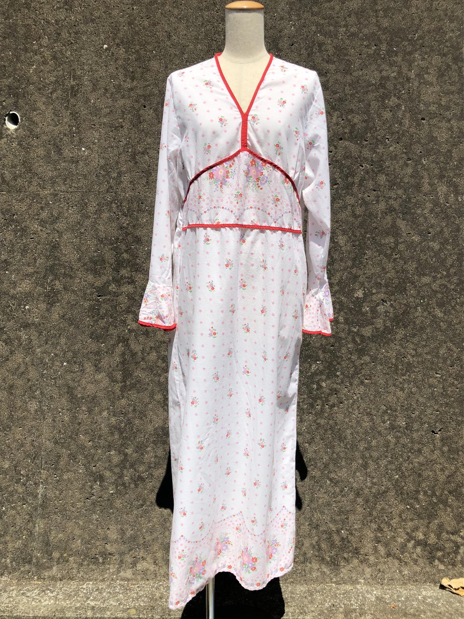 flower printed cotton long dress