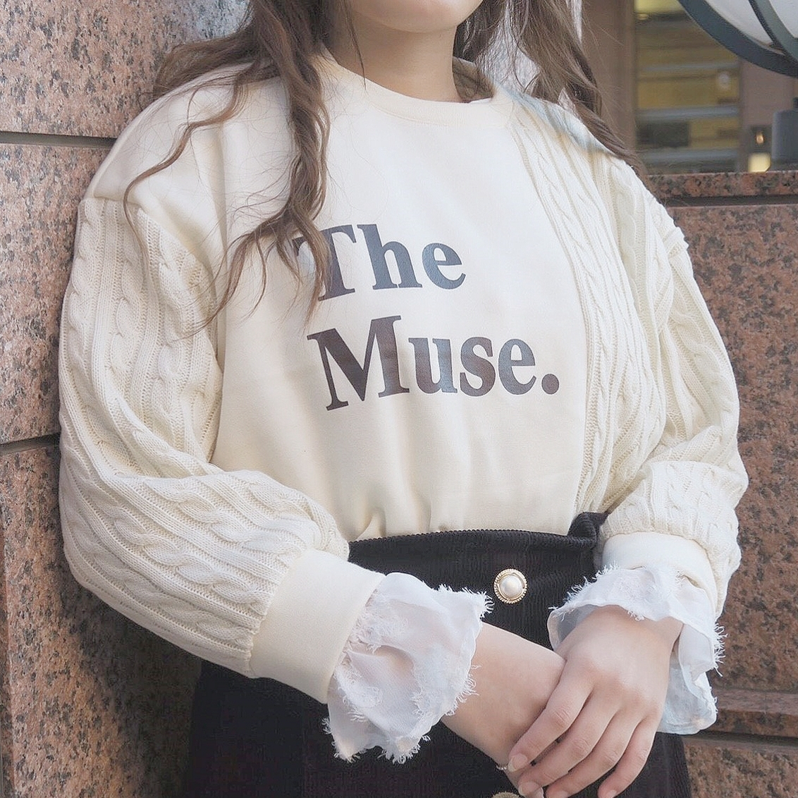 The muse knit mtm (red/ivory)