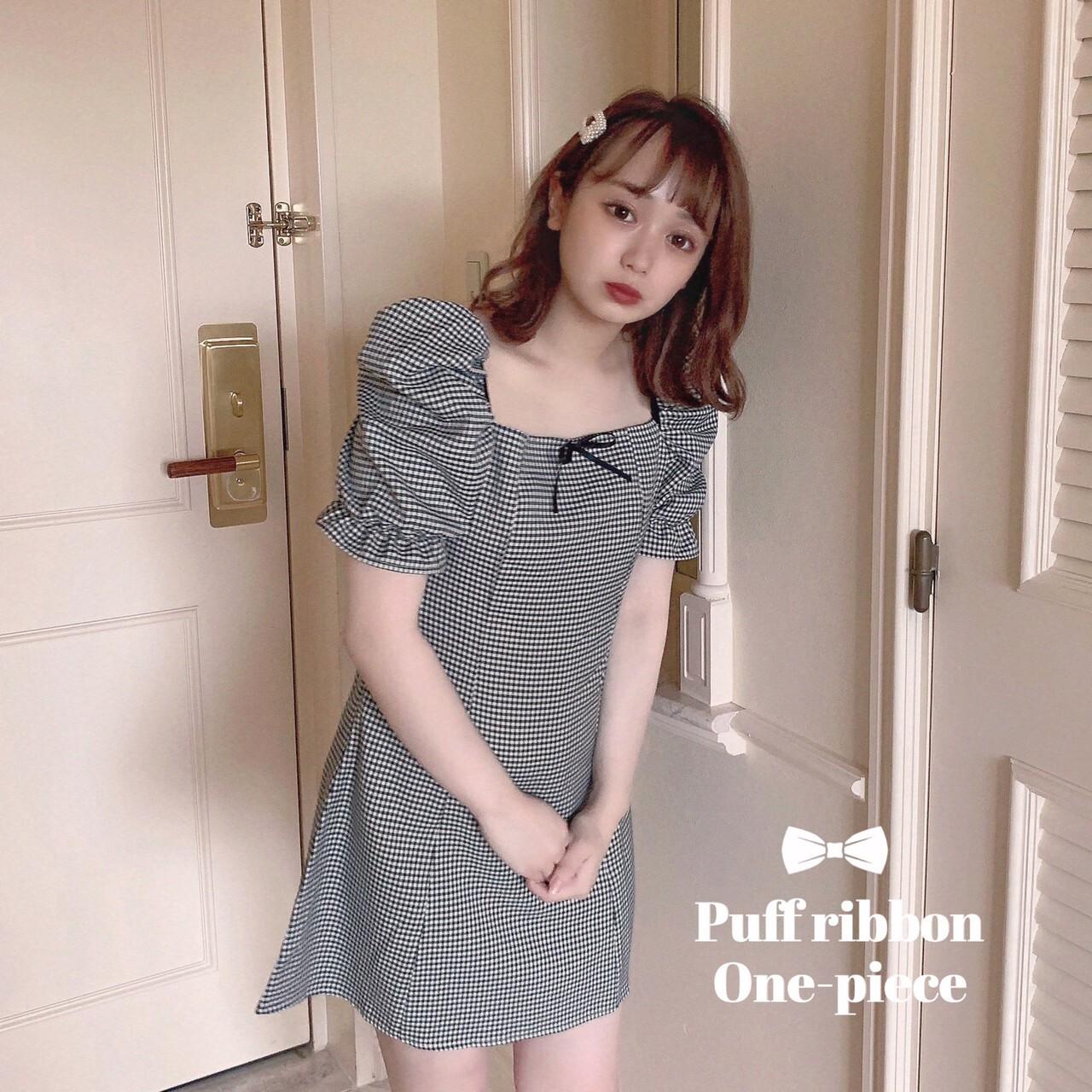 【meltie】puff ribbon one-piece