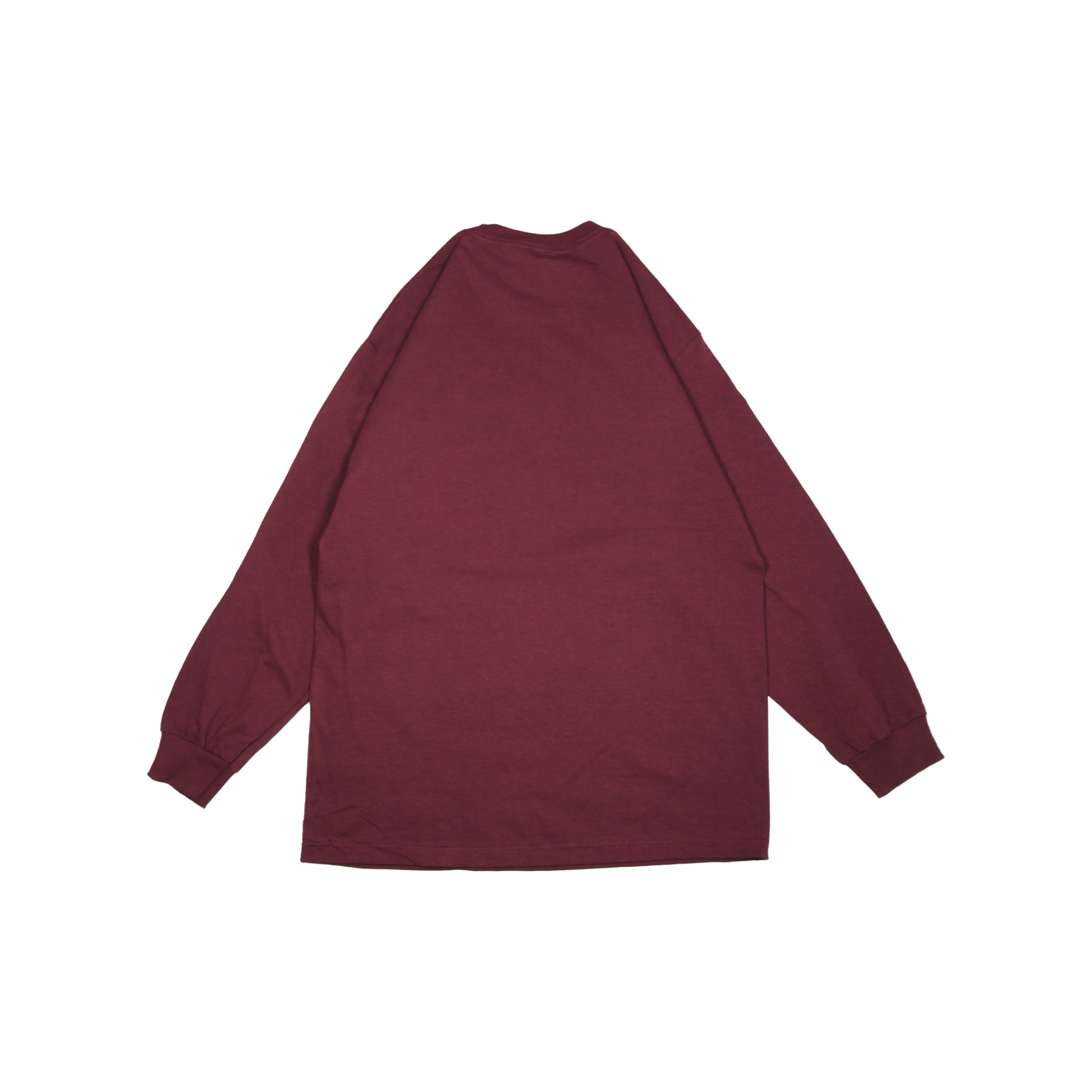 LIVING MADE by IRA L/S TEE [BURGUNDY]