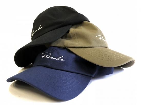 SCRIPT LOGO 6PANEL CAP ( スクリプトロゴ 6パネル キャップ ) / PANCAKE パンケーキ