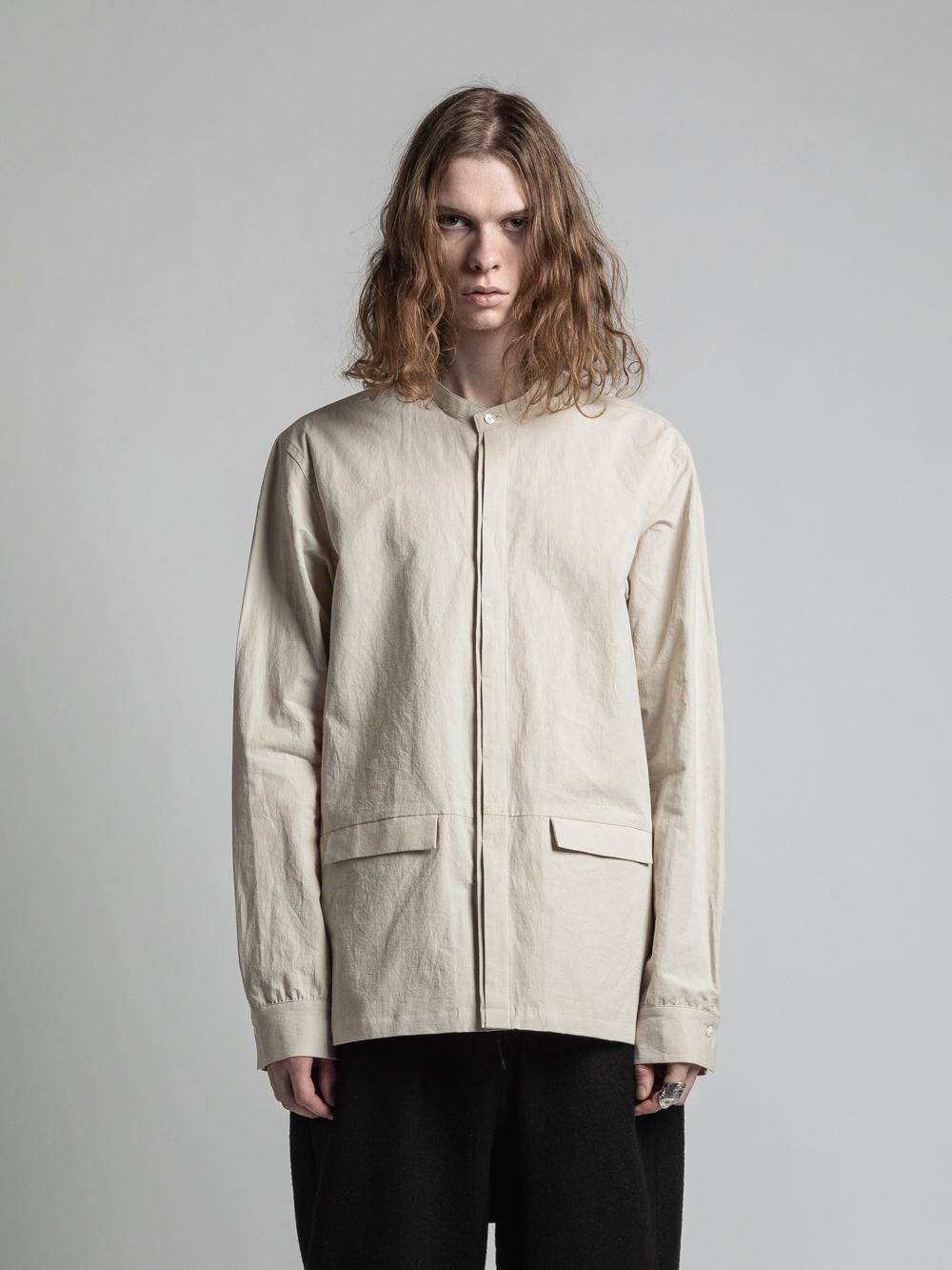 VI-3268-02 / コットンリネン裾ポケット長袖シャツ