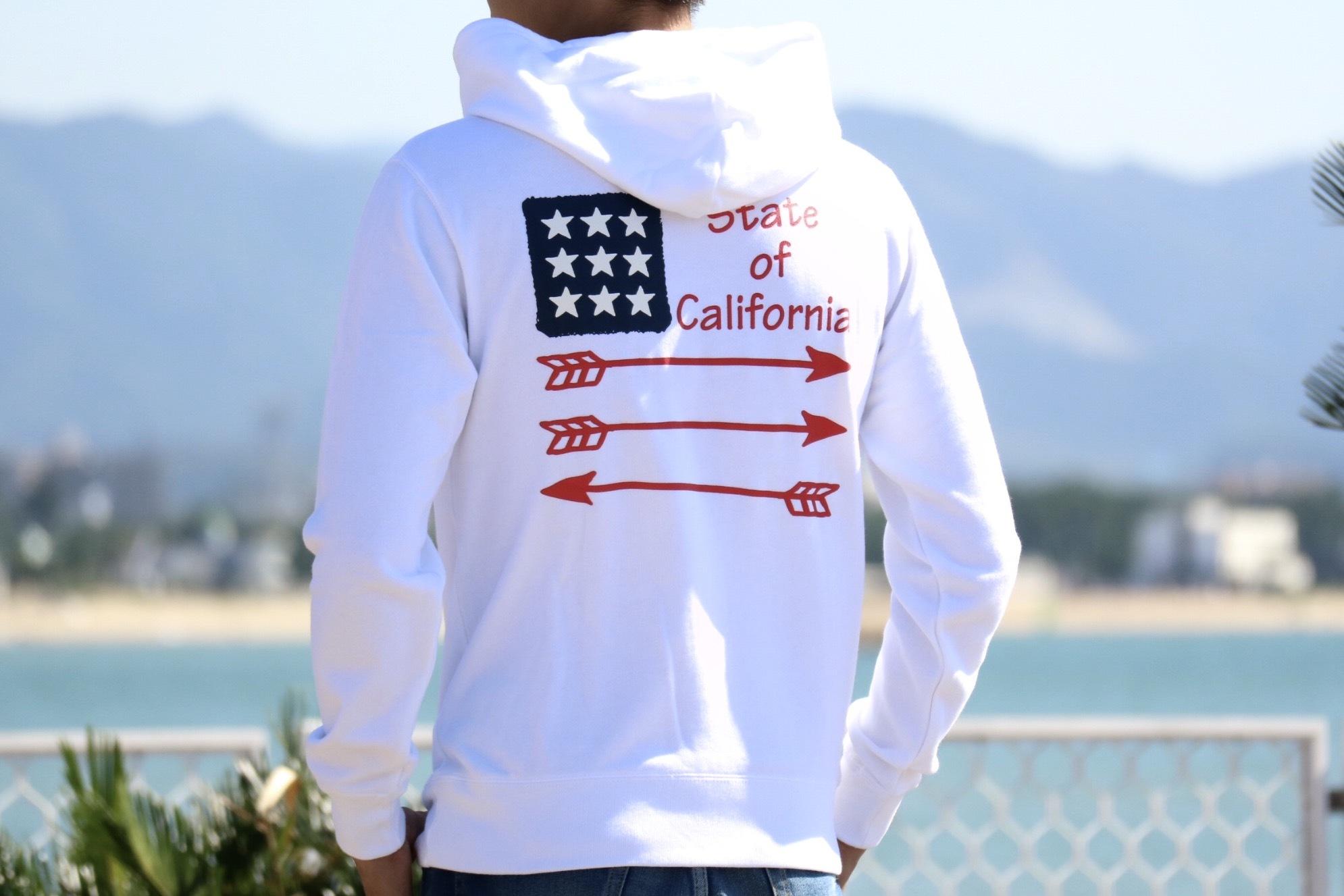 #California パーカー(white)