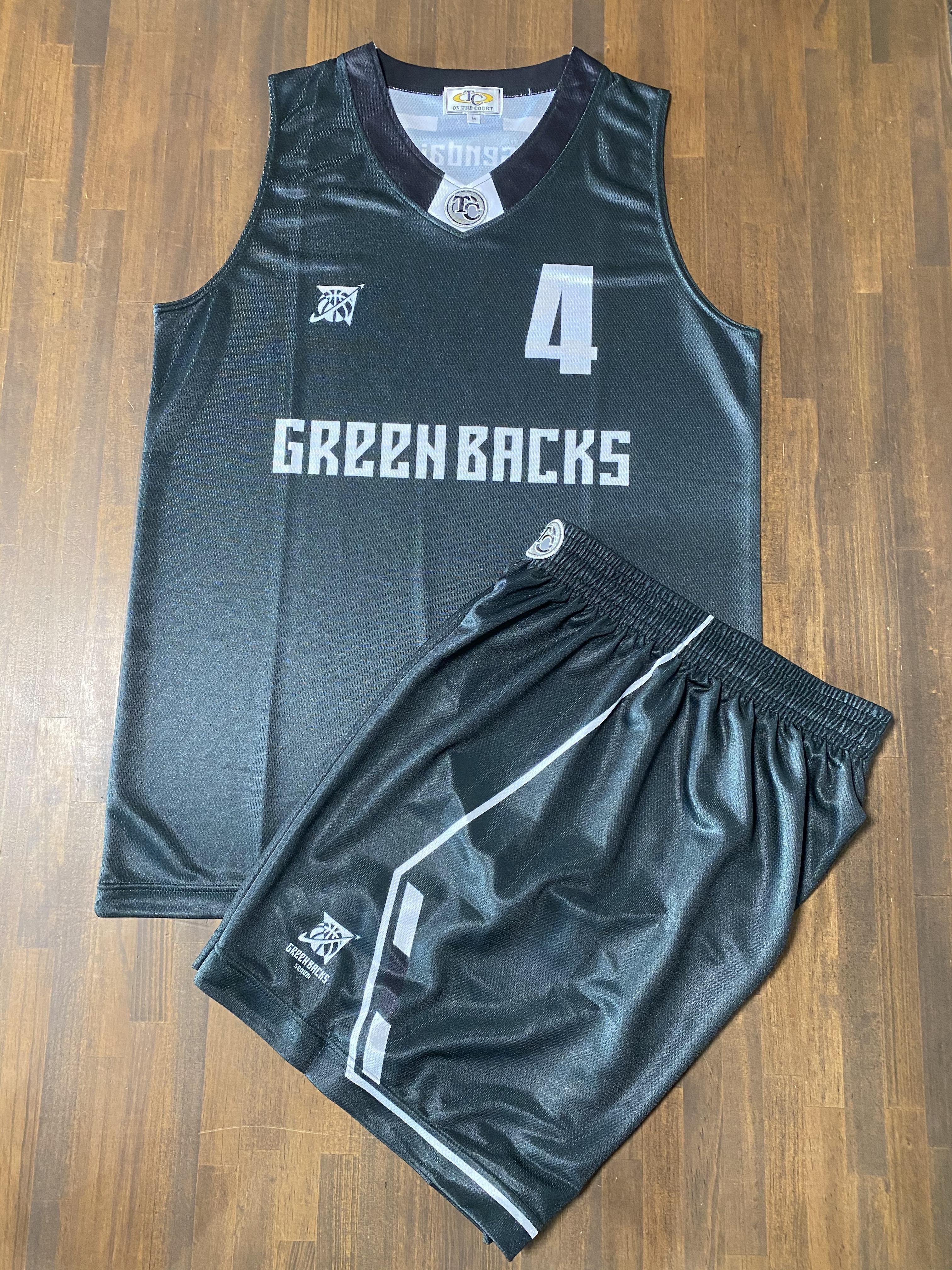 【デザインサンプル】川内GREENBACKS  (U12・男子)  昇華ユニフォーム