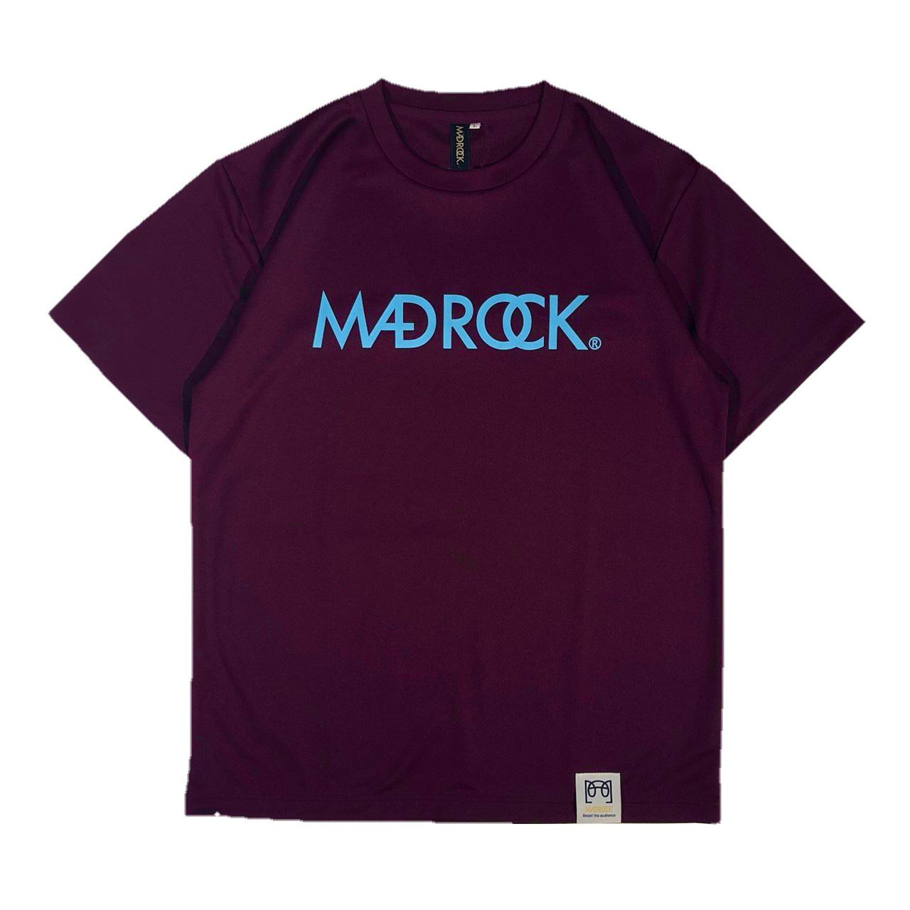 マッドロックロゴ Tシャツ/ドライタイプ/パープル&サックス