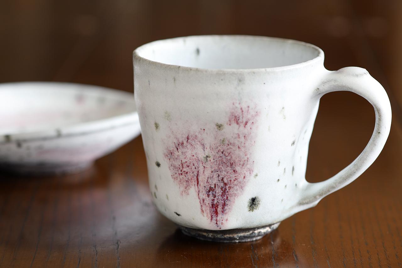 雪中華 マグカップ 作:谷井芳山・谷寛窯(信楽焼)