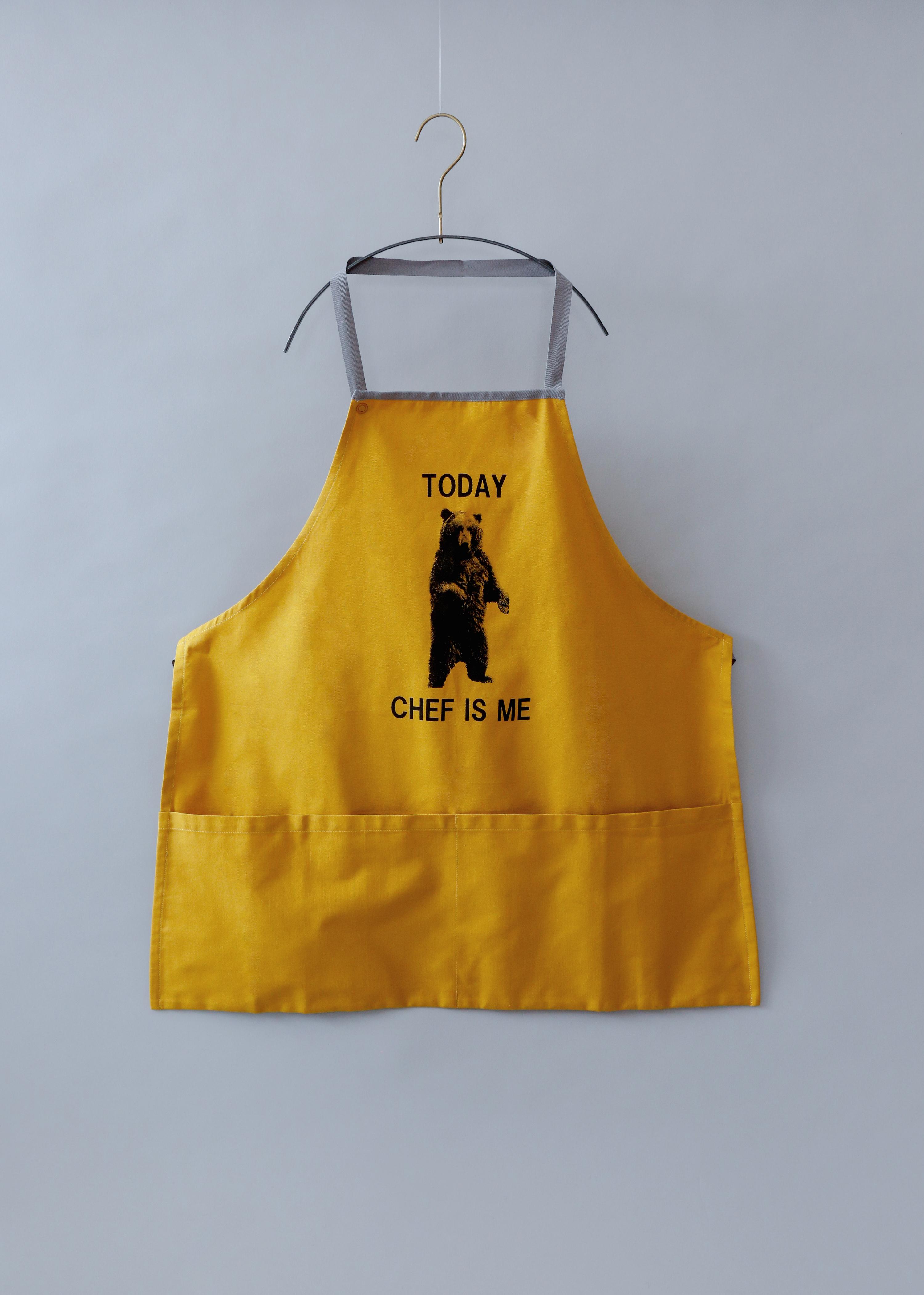 《michirico》Bear apron / mustard