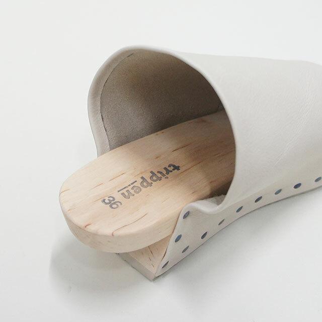 trippen トリッペン GUSH-SFT ガッシュ PER-GY ライトベージュ レディース サンダル レザー 革 WOOD ウッド はきやすい 正規取扱店 通販 (品番gush-sft)