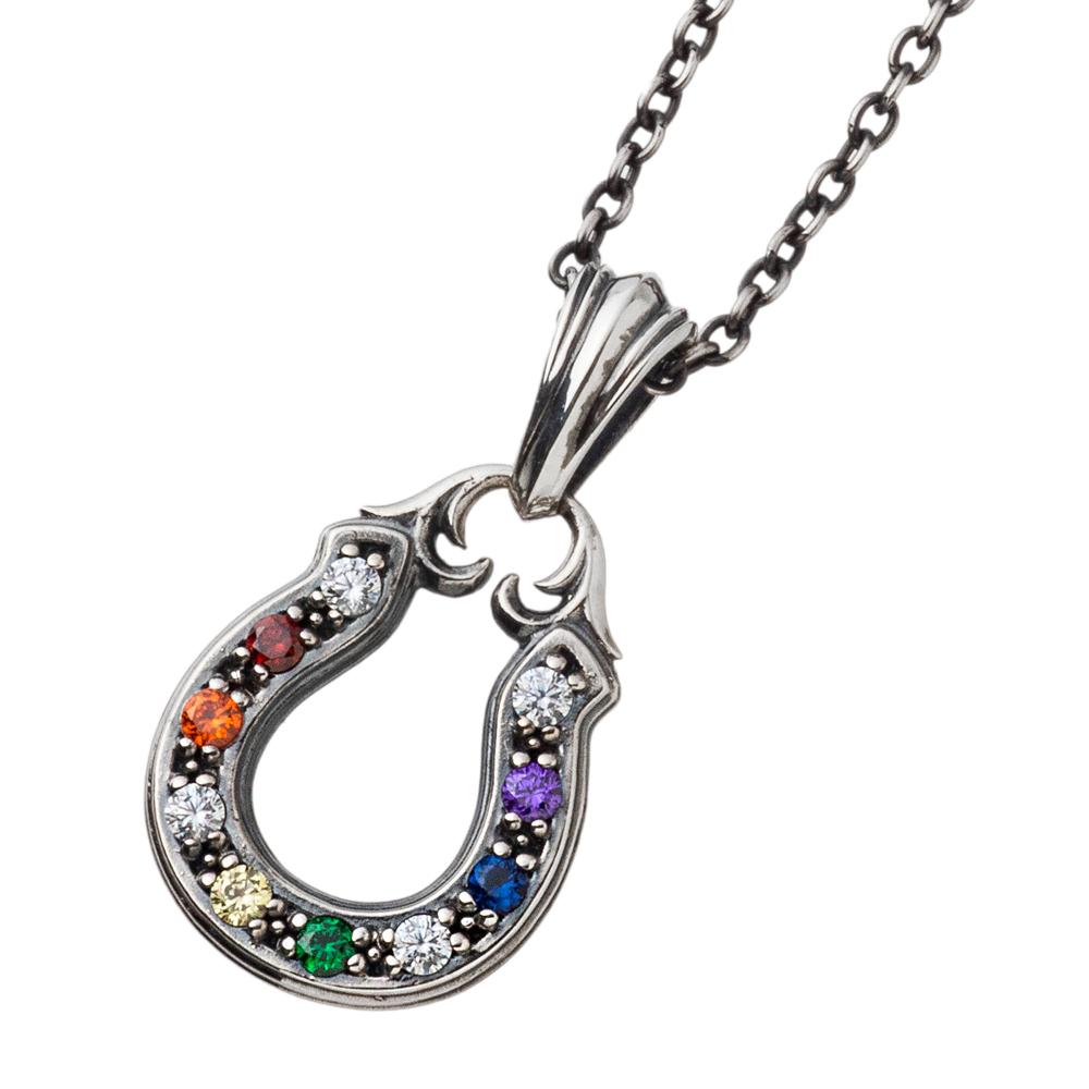 マルチカラーホースシューチャーム AKP0121 Multicolor horseshoe pendant