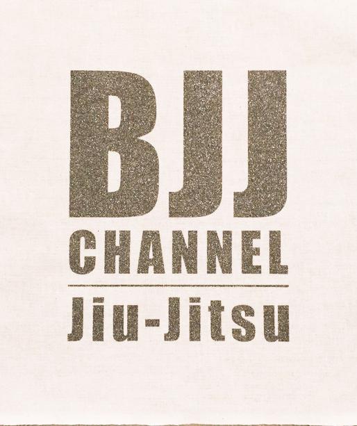 BJJ チャンネルパッチ カラー白地にロゴガンメタ