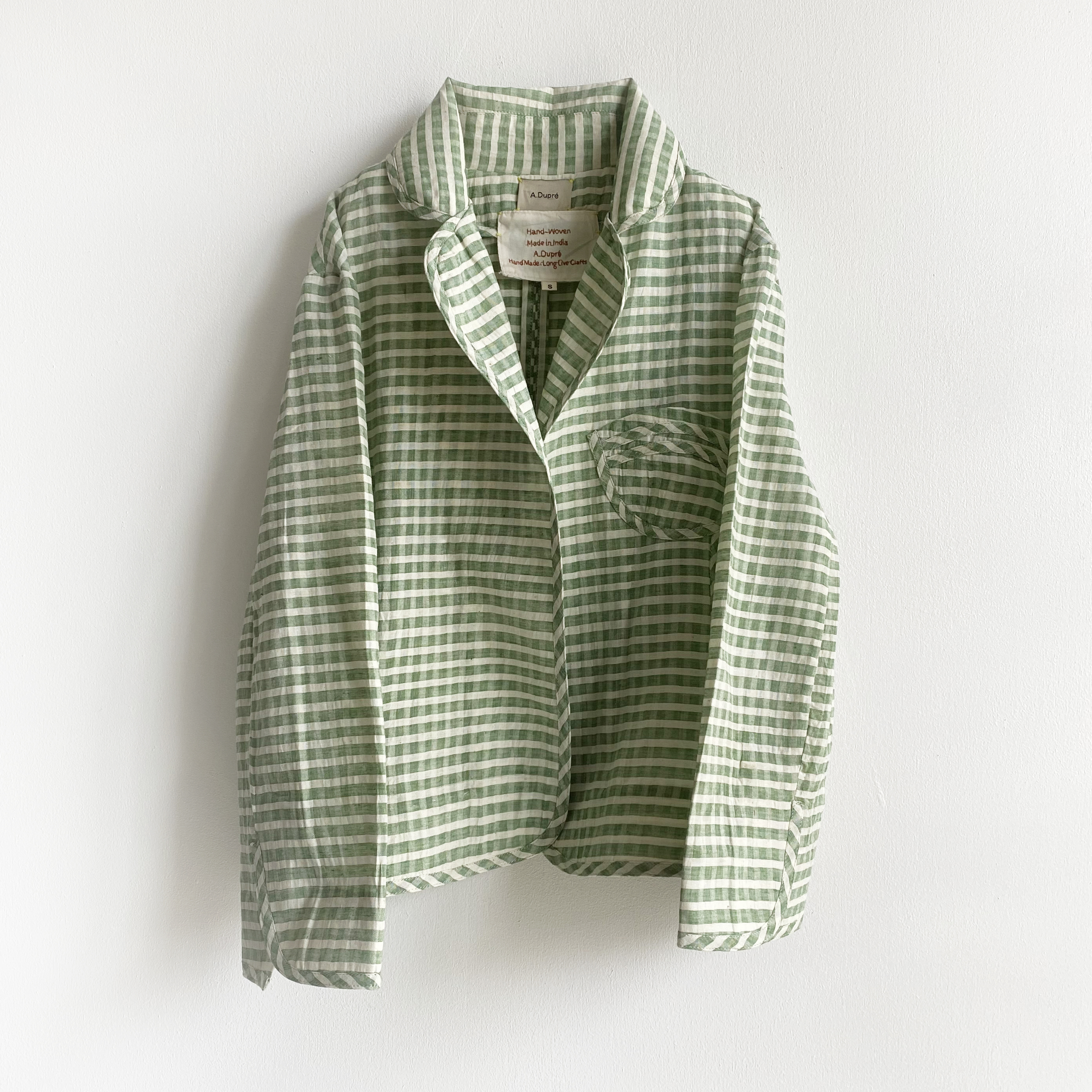 "Waist Sharpe jacket ""green gingham check"""