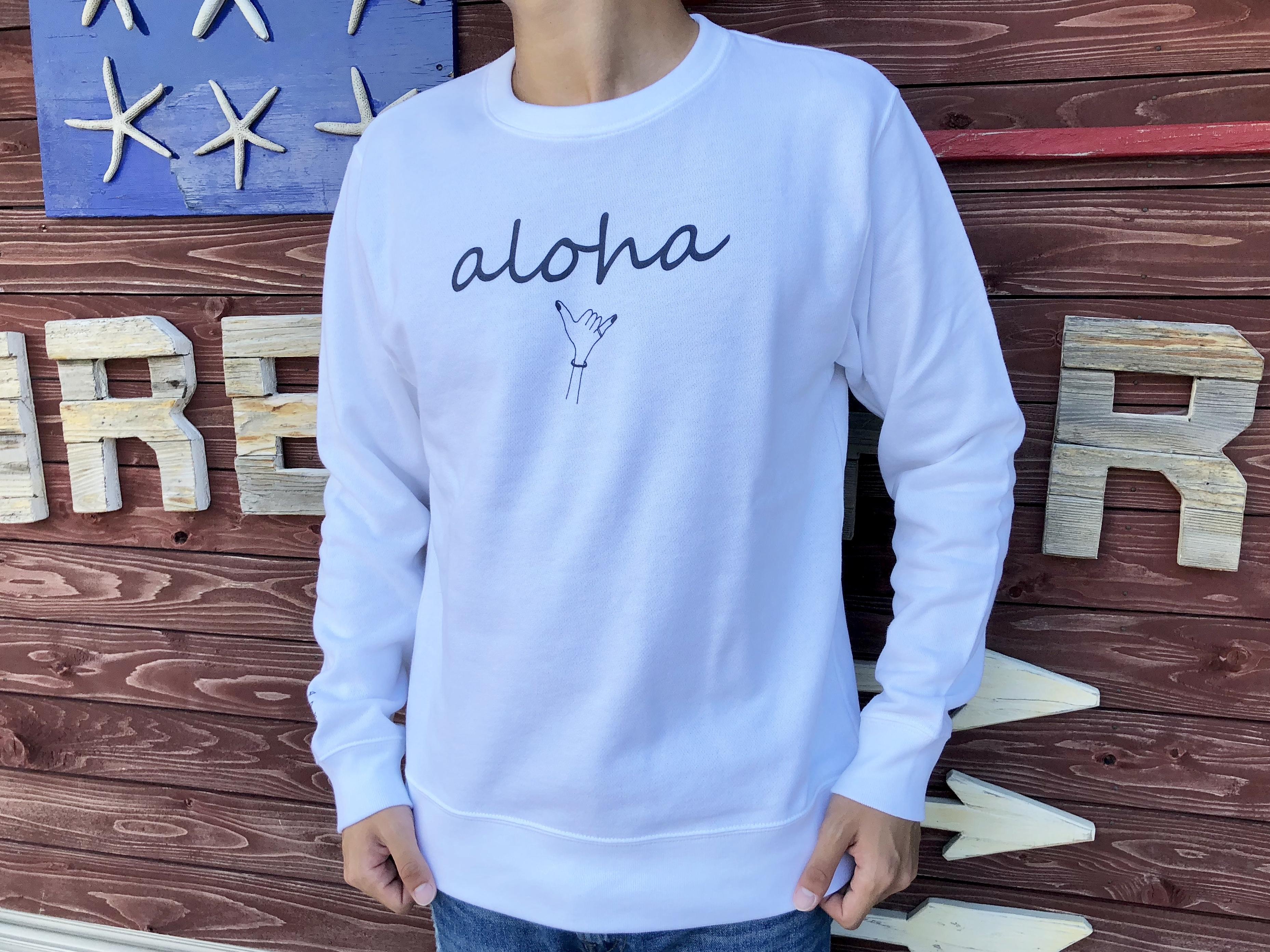 alohaサイン スウェット(white)