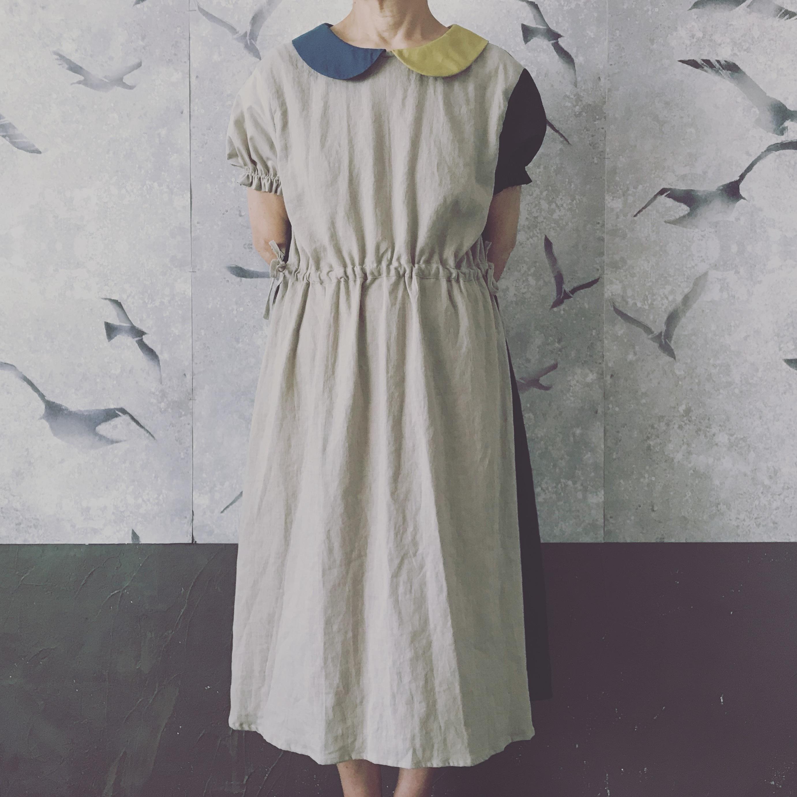 【受注販売】大人size palette丸襟ワンピース