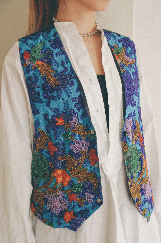 Beads embroidery vest