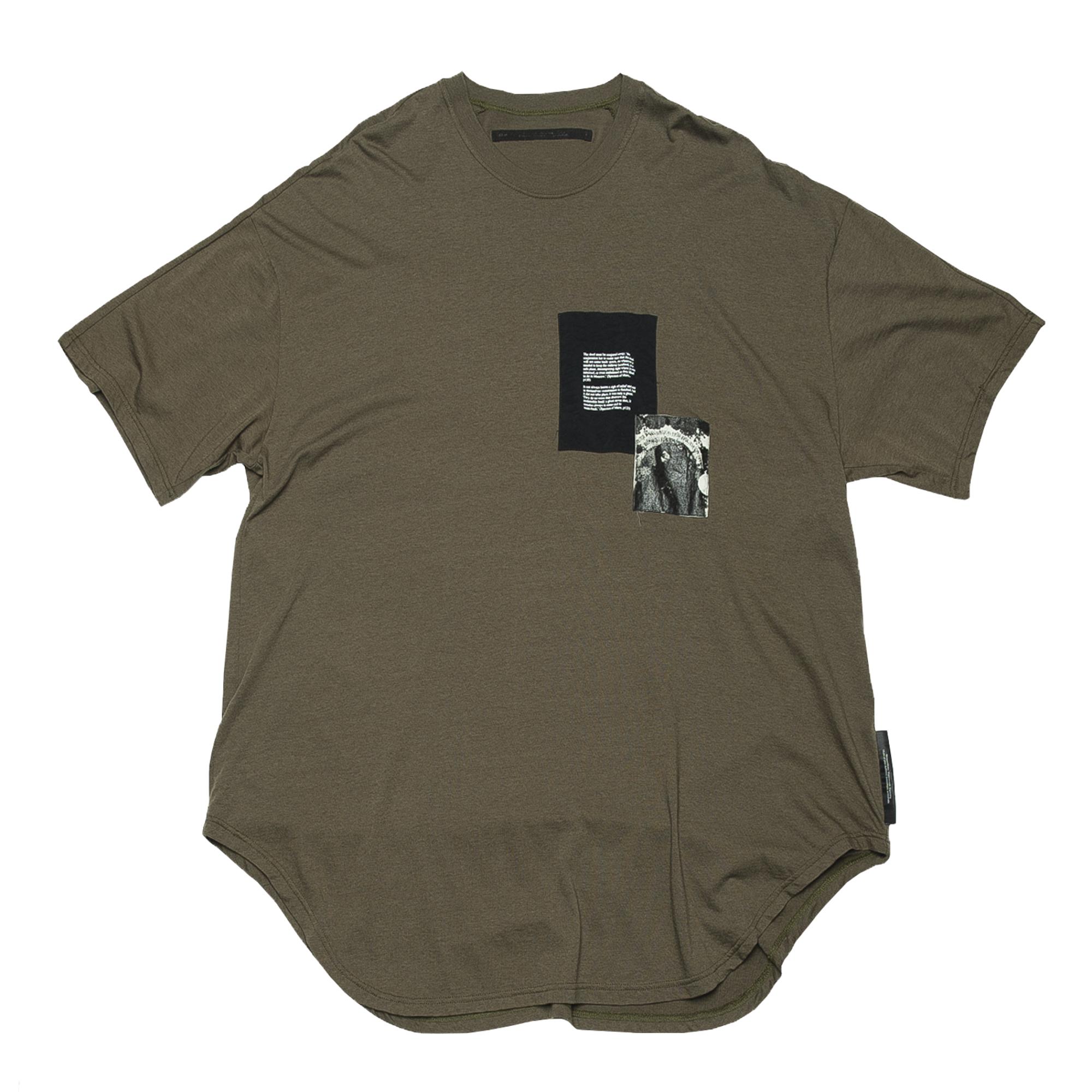 687CPM1-KHAKI / パッチプリント OS Tシャツ